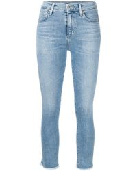 Citizens of Humanity - Frayed Cropped Skinny Jeans - Lyst