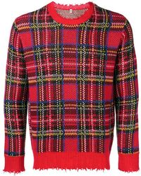 R13 - Frayed Hem Plaid Sweater - Lyst