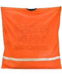 CALVIN KLEIN 205W39NYC - Embroidered Logo Firefighter Tote - Lyst