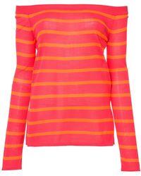 Goen.J - Striped Off The Shoulder Sweater - Lyst