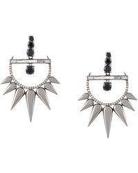 Elise Dray - Diamond Drop Spiked Earrings - Lyst