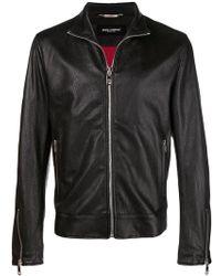Dolce & Gabbana - Classic Leather Jacket - Lyst