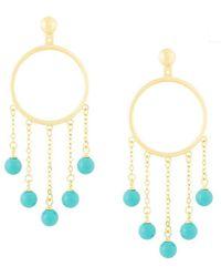 Eshvi - Fang Pearl Drop Earrings - Lyst