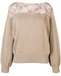 See By Chloé - Lace-panelled Sweater - Lyst