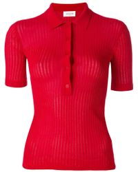 WOOD WOOD - Ribbed Polo Shirt - Lyst