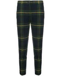 Boutique Moschino - Checked Skinny Trousers - Lyst