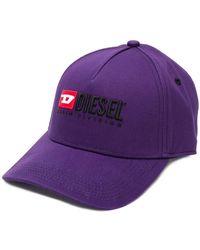 DIESEL - Logo Embroidered Baseball Cap - Lyst