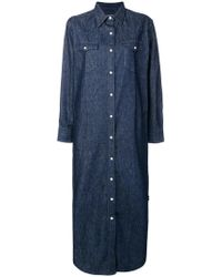 Maison Kitsuné - Boxy Shirt Dress - Lyst