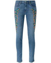 Sandrine Rose - Embroidered Skinny Jeans - Lyst