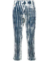 Faustine Steinmetz - Ruched Tie-dye Denim Trousers - Lyst