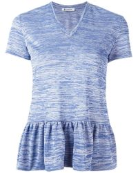 Dondup   Pleated Trim V Neck Top   Lyst