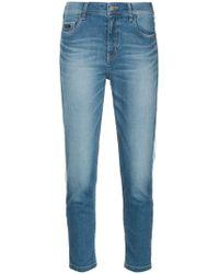Loveless - Side-stripe Cropped Jeans - Lyst