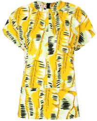 Marni - Printed Short-sleeved Blouse - Lyst