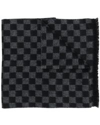 Prada - Check Knitted Scarf - Lyst