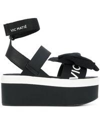 Vic Matié | Asymmetric Bow Platform Sandals | Lyst
