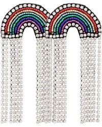 Venessa Arizaga - Multicoloured Rainbow Crystal And Rhinestone Earrings - Lyst