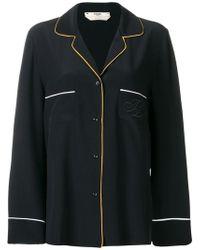 Fendi - Embroidered Pyjama Shirt - Lyst