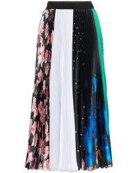 MSGM - Multi Print Pleated Midi Skirt - Lyst
