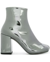 MM6 by Maison Martin Margiela - Coated Ankle Boots - Lyst