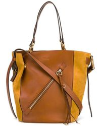 Chloé - Myer Medium Leather & Suede Tote Bag - Lyst