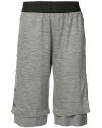 Baja East - Layered Press Stud Shorts - Lyst