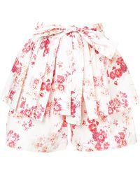 Jill Stuart - Tasha Floral Shorts - Lyst