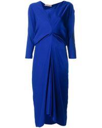 Marni - Gathered V-neck Dress - Lyst