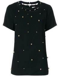 MICHAEL Michael Kors - Embellished Cutout Blouse - Lyst