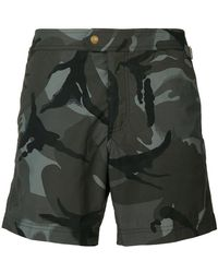 Tom Ford - Printed Camouflage Swim Shorts - Lyst