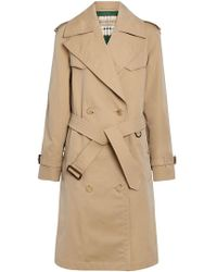 Burberry - Scarf-print-lined Tropical Gabardine Trench Coat - Lyst