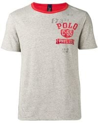 013a62d94bac Polo Ralph Lauren Block Stripe Polo Shirt in Blue for Men - Lyst