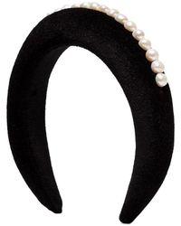 WALD BERLIN Pearl-embellished Headband - Black