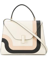 Valextra - Striped Detail Tote - Lyst