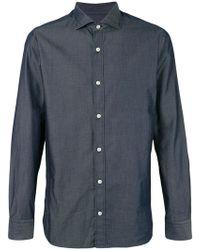 Z Zegna - Spread Collar Shirt - Lyst