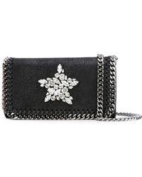 Stella McCartney - Crystal-embellished Falabella Cross-body Bag - Lyst