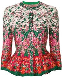 Alexander McQueen - Floral Embroidered Cardigan - Lyst
