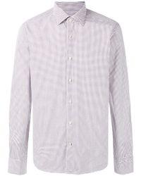 Xacus - Geometric Print Shirt - Lyst