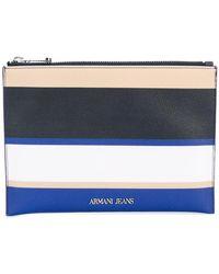 Armani Jeans - Striped Wallet - Lyst