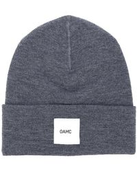 brand patch knitted beanie - Black OAMC Ih37yMP0