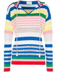 Mira Mikati - Stripe Cotton Blend Hoodie - Lyst