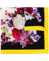 Dolce & Gabbana Classic Floral Square Scarf