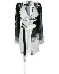 Ann Demeulemeester - Abstract Wrap Dress - Lyst