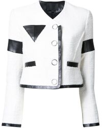 Alexander Wang - Cropped Jacket With Triangle Chest Pocket - Lyst