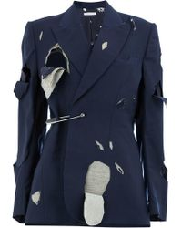 CHARLES JEFFREY LOVERBOY - Distressed Suit Jacket - Lyst