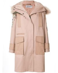 Valentino - Embroidered Parka - Lyst