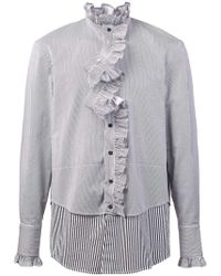 BMUET(TE) - Ruffled Placket Layered Shirt - Lyst