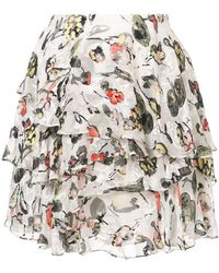 Jason Wu - Flared Floral Mini Skirt - Lyst