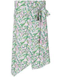 Dodo Bar Or - Asymmetric Floral Print Skirt - Lyst