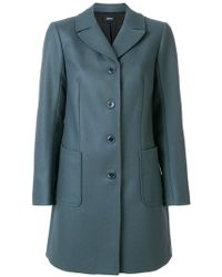 Jil Sander Navy - Fitted Single Breasted Coat - Lyst