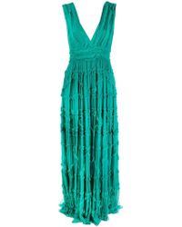 Just Cavalli - Long Crepon Gown - Lyst